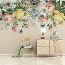 Furnishing Waterproof Wall Paper Hand-Painted Retro Rose Living Room Bac... - $13.43