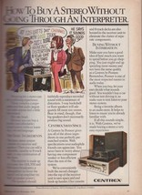 1978 Centrex Stereo Cartoon Electronics Record Player Vintage Print Ad 1... - $7.13