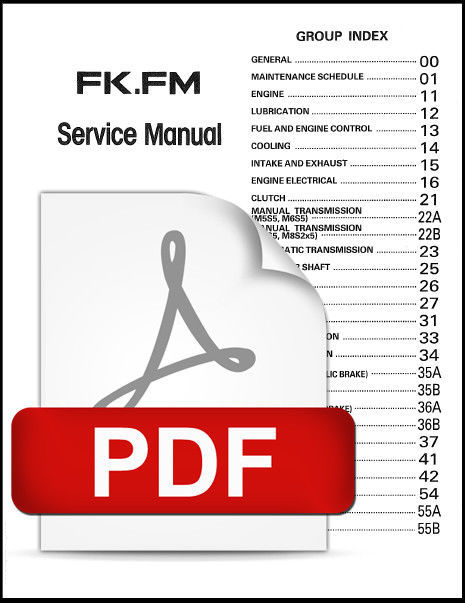 MITSUBISHI FUSO 1986 - 1987 FK FM TRUCK OFFICIAL SERVICE REPAIR WORKSHOP MANUAL
