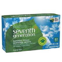 Seventh Generation Free & Clear Natural Fabric Softener Sheets - Pack of 12 - $67.85
