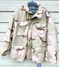NWT USGI COAT COLD WEATHER FIELD DESERT CAMO M-65 JACKET W/LINER - X-LAR... - $153.45