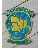 Sweet adelines inc region 3 patch Blue Yellow music note - $14.85