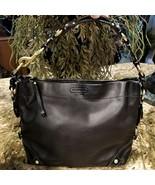 Rare Find COACH Carly Black Calfskin Leather Hobo Shoulder Purse 10615 - $139.95