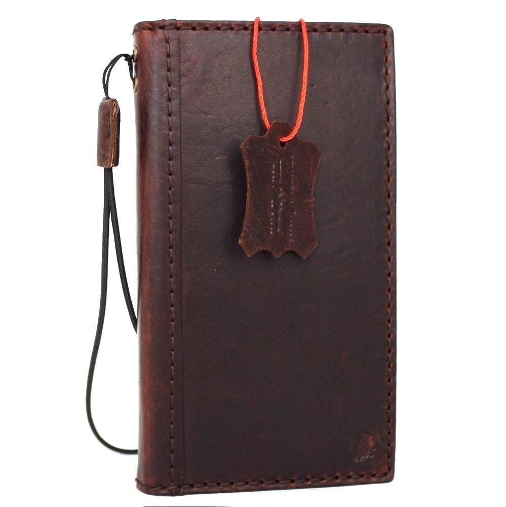genuine Natural leather Case for iPhone 6 book wallet cover classic holder - $39.99