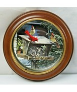 Bradford Exchange Collectible Cat Nap Bird Cardinal by Persis Weirs wood... - $33.00