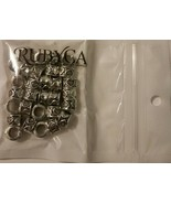 RUBYCA Tibetan Silver Tone Color Spacer Charms 30 Heart Printed Beads - $9.00