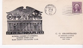Opening Of New Post Office Altoona, Pa February 25, 1933 - $2.64