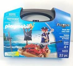 Playmobil 5655 Pirate Raft Carry Case 22 pc Set - $13.10