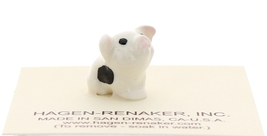 Hagen-Renaker Miniature Ceramic Pig Figurine Spotted Piglets Sitting Set of 2 image 3