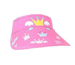 Children Sun Protection Hat Mini Cute Crown Cap Without Top 2-4 Years(Pink)