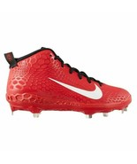 Nike Force Zoom Trout 5 Baseball Cleats Red/Blk Metal AH3372-601 Men's S... - $45.96