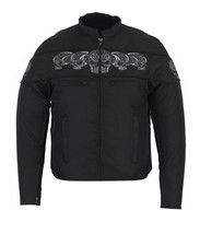 Men's Textile Scooter Style Jacket Skulls Biker Daniel Smart Motorcycle ... - $119.95