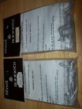 75mm 2 METAL STEEL BONNETS COL. HENRY LEAVENWORTH 1827 EXPEDITION & CAPTAIN - $30.00