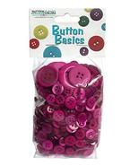 Buttons Galore Hand Dyed Buttons, 5.5-Ounce, Wild Raspberry - $11.27