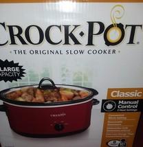 NEW - Crock◇Pot Original Slow Cooker Red - $37.40