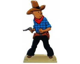 Tintin in america metal figurine