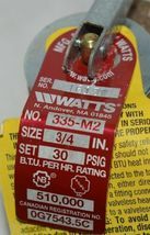 Watts 3/4 Inch 0342691 PSI Pressure Relief Valve Bronze image 4