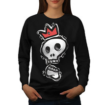 Skull King Jumper Funny Face Art Women Sweatshirt - $18.99