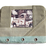 Antique Truck Laptop Tablet Sleeve Bag Recycled Canvas Vintage Addiction... - $28.49
