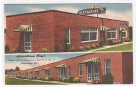 Hagerstown Motel & Restaurant Hagerstown MD Maryland linen postcard - $6.50