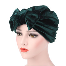 new fashion Gorras mujer Women Bowknot Muslim Ruffle Cancer Chemo Hat Be... - $9.75