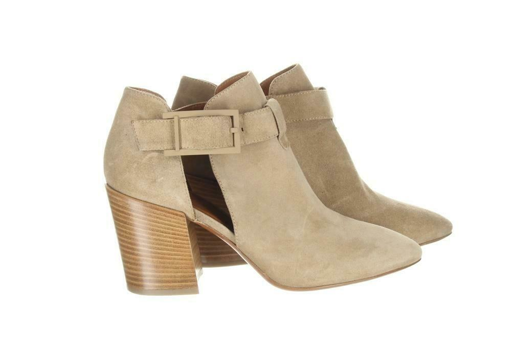 Aquatalia Women's Suede Cutout Booties Tan Ankle Boots Booties Sz. 10.5. image 7
