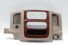 02-05 Dodge Ram 1500 2500 3500 Pick-up Dash A/C Radio Control Bezel Wood Trim