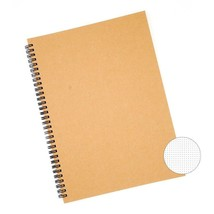 Big A4 Dot Grid Spiral Notebook for Bullet Journal Tan Cardboard Dotted ... - $16.90