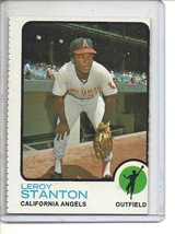 (b-31) 1973 Topps #18: Leroy Stanton - Factory Error off-set cut - $5.00