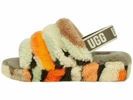 UGG Fluff Yeah Slide Olive Cali Women's Faux Fur Slipper Sandals 1118164 - £67.19 GBP