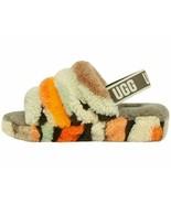 UGG Fluff Yeah Slide Olive Cali Women's Faux Fur Slipper Sandals 1118164 - $94.00