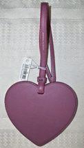 Coach Boxed Leather Heart Charm Ornament Glitter Edges 21517 NWT Primrose image 4