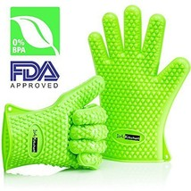 IsSilicone Heat Resistant BBQ Grill Oven Gloves... - $17.01