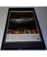 1972 Ford LTD Framed 11x17 ORIGINAL Vintage Advertising Poster - $65.09