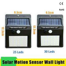 Led Solar Night Light PIR Motion Sensor Wall Light Waterproof 16/20/25/30 LEDs image 4