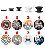 Pop up Phone Holder Expanding Stand Finger Grip Mount Miami Marlins - $11.99