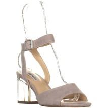 Steve Madden Debbie Heeled Sandals, Grey Suede, 8 US - $46.07