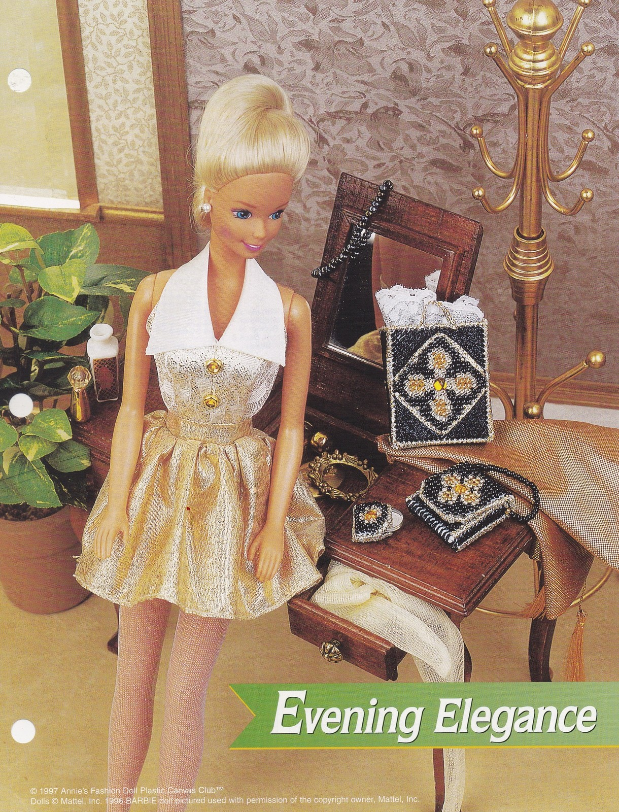 Primary image for Evening Elegance, Annie's Fashion Doll Plastic Canvas Pattern Club FP25-01