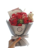 Artificial Flowers, Roses Bouquet, Dozen of Roses, Pink Roses, Red Roses... - $21.95