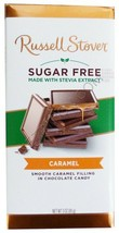 4 RUSSELL STOVER SUGAR FREE CHOCOLATE CANDY BAR 3oz ea Caramel - $27.66
