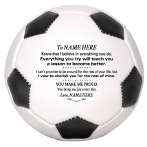 Personalized Mini Soccer Ball To My Daughter, Son, Granddaughter, Grandson - $34.95