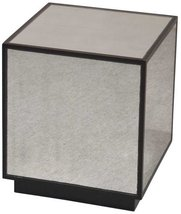 Uttermost 24091 Matty Mirrored Cube, Aged Black, Red - $257.40