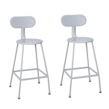 Adeco 26 inches Metal Industrial Simplify Chic Dining Bistro Cafe Side C... - $75.99