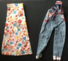 Mattel Barbie Shillman Clone Doll Print Skirt, Denim Overalls - $11.31