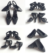Black 40 Pair Plastic Shoes for Barbie DollsChrismas GiftsHalloween