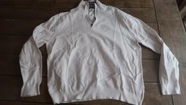 Mens Nautica Size 2XL Pullover Half Zip Sweatshirts - White - $19.79
