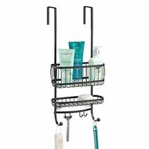 mDesign Small Metal Over Door Bathroom Tub & Shower Caddy, Hanging Stora... - $20.22