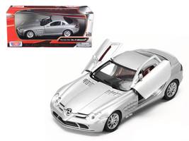 Mercedes Mclaren SLR Silver 1/24 Diecast Model Car by Motormax - $31.66