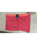 New Nike Women's All Sports Shorts Orange Polka Dots Design Sz XL - $20.00