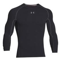 Under Armour Men's HeatGear Armour Long Sleeve Compression Shirt, Black/... - $24.74